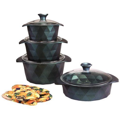 سرویس پخت و پز گرانیت 10 پارچه تی وان تی طرح دیاموند مدل 1031