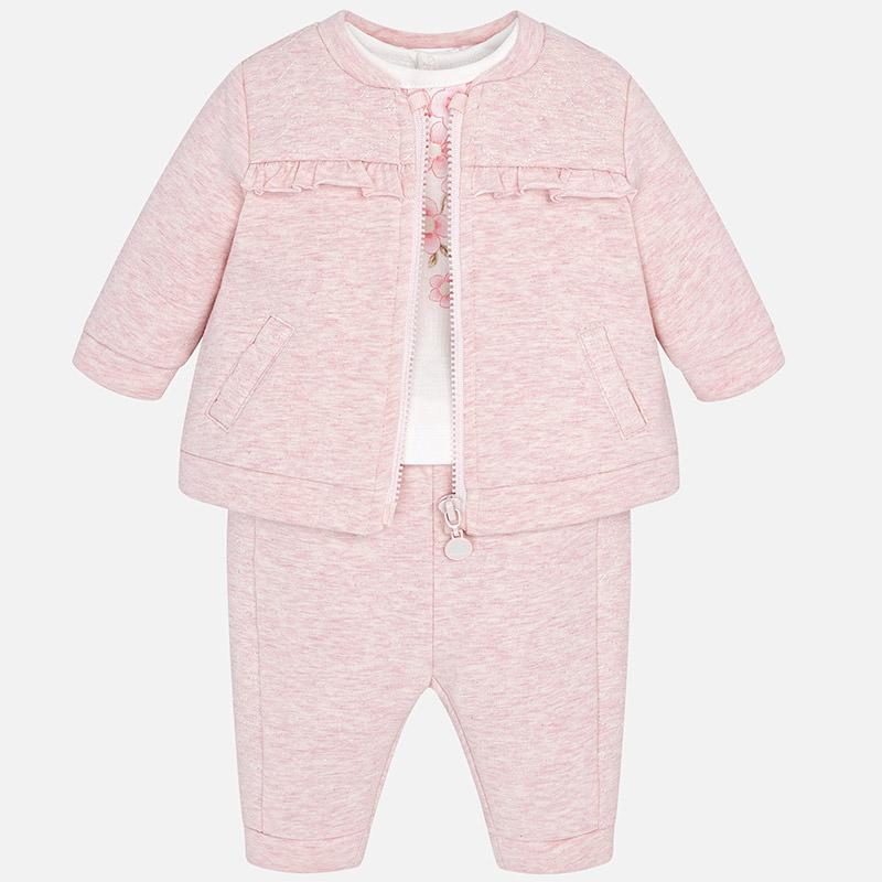 ست 3 تکه لباس نوزادی دخترانه مایورال مدل MY02634-69