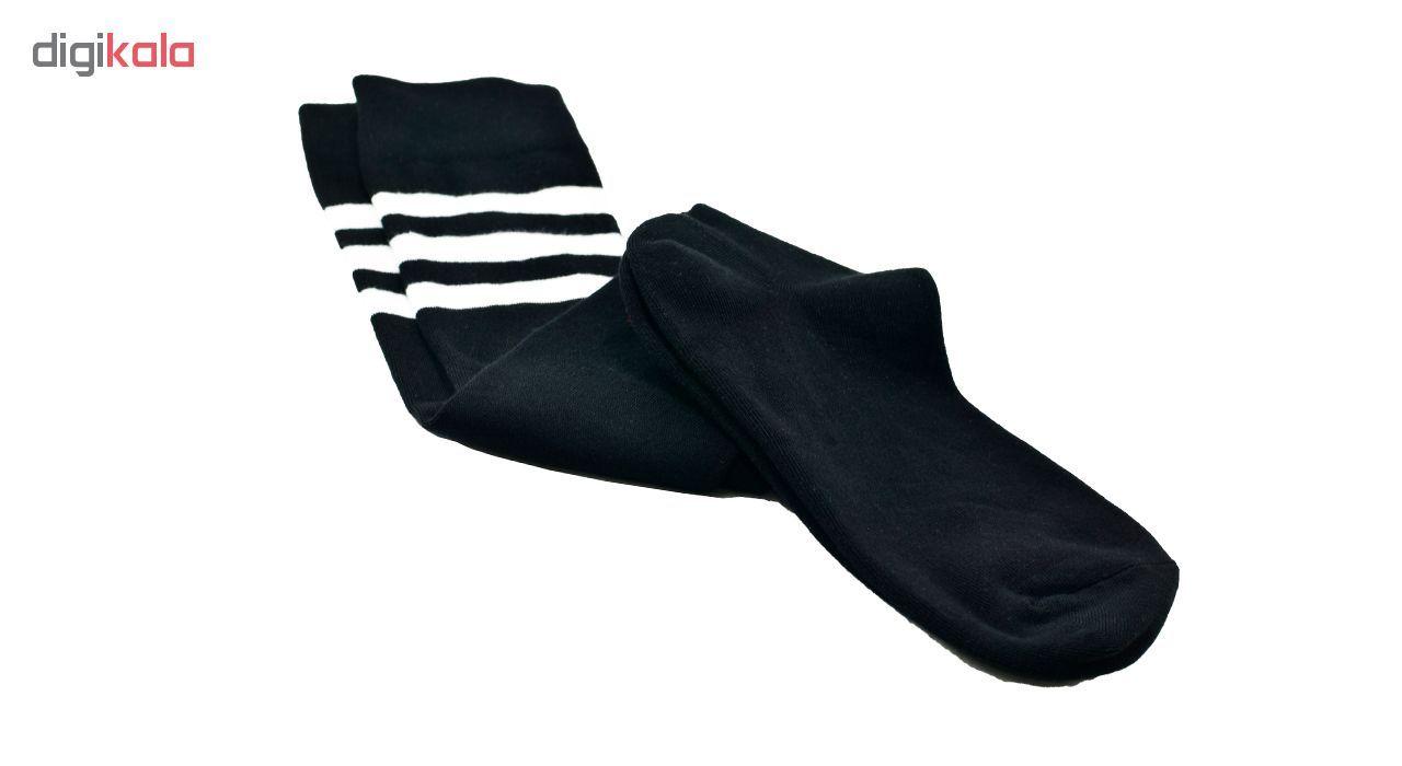 جوراب زنانه پاتریس طرح راه راه رنگ مشکی main 1 2