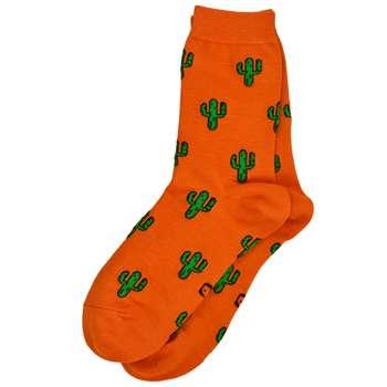 جوراب زنانه پاتریس طرح کاکتوس نارنجی