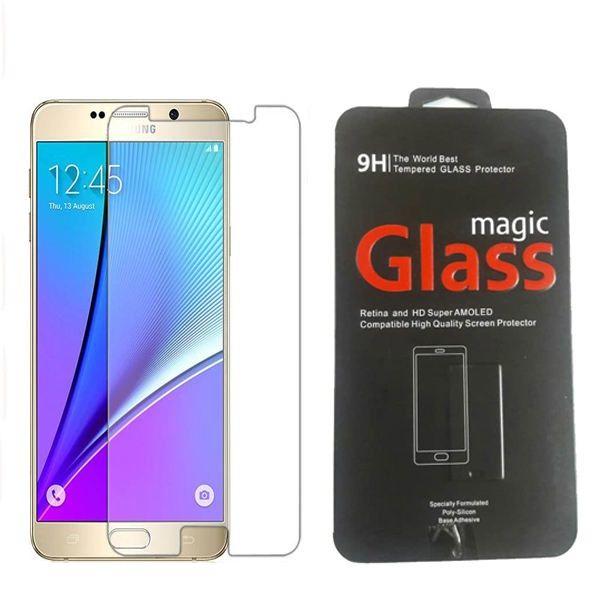 محافظ صفحه نمایش شیشه ای مقاوم مدل magic glass پک فلزی مناسب گوشی سامسونگ  Galaxy Note 5