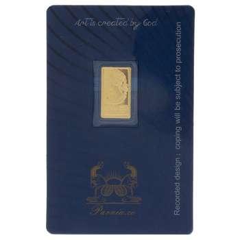 طلای گرمی 24 عیار پرنیا مدل Face وزن 0.15 گرم