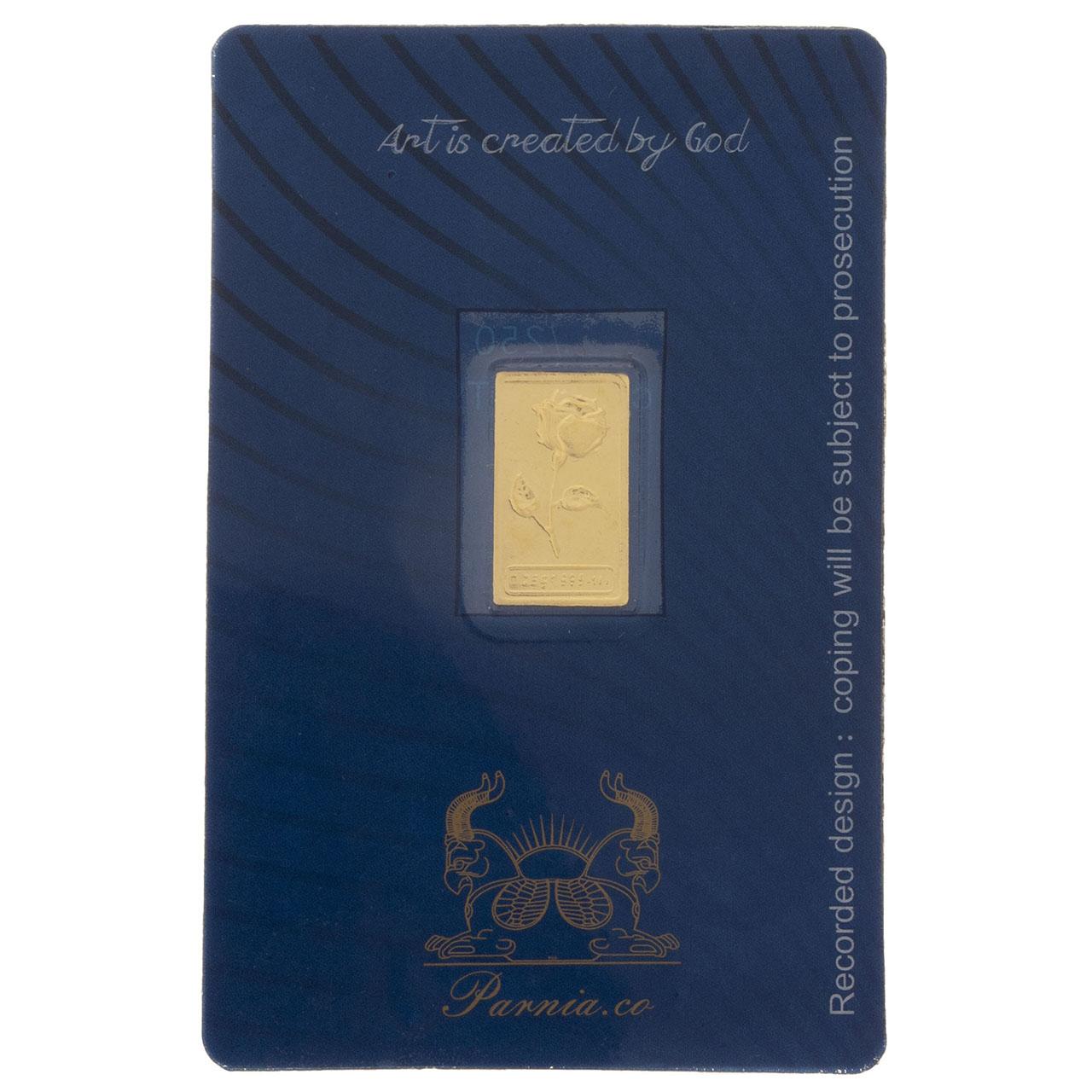 قیمت طلای گرمی 24 عیار پرنیا مدل Rose