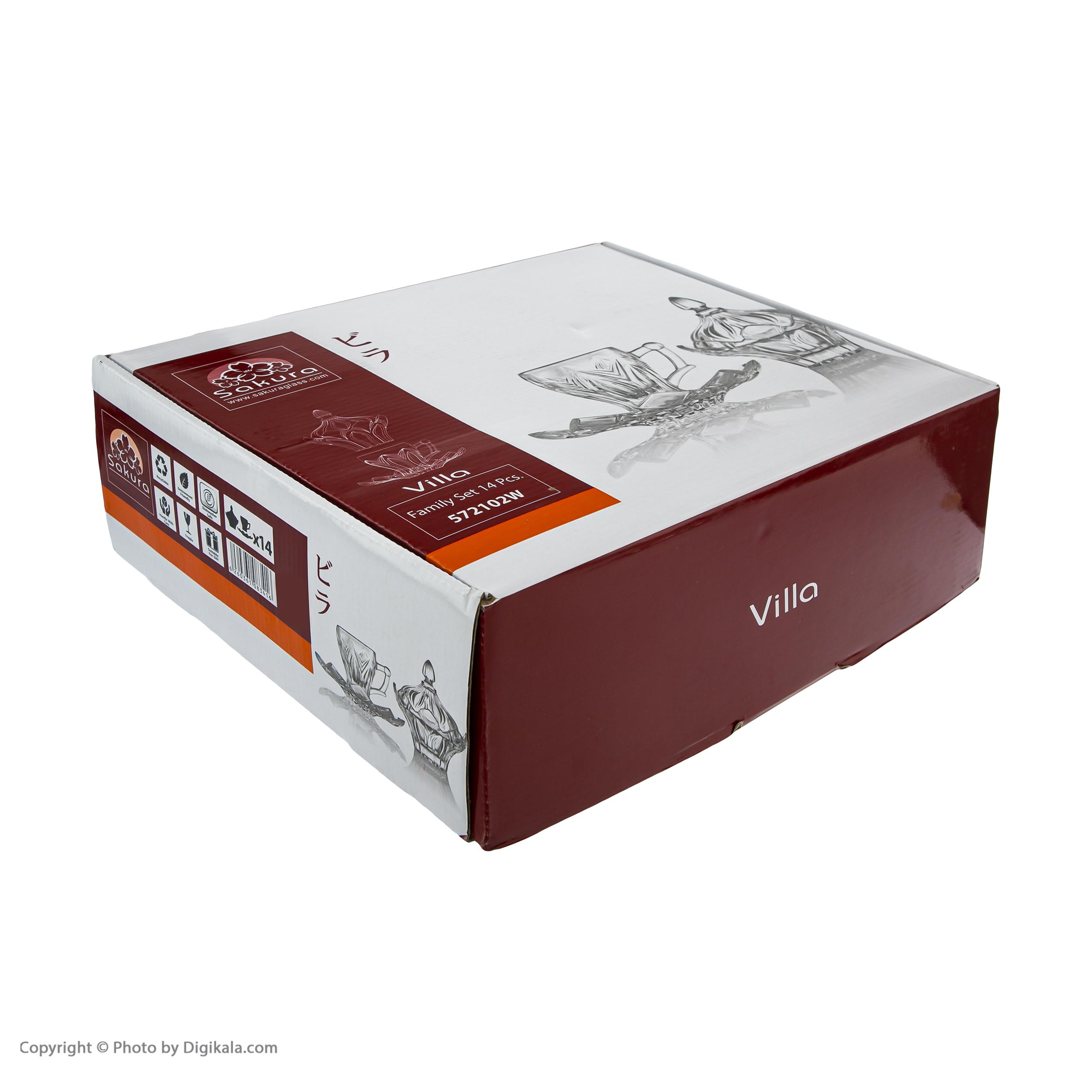سرویس چای خوری 14 پارچه ساکورا مدل ویلا کد 572102W main 1 4