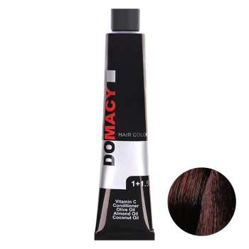 رنگ مو دوماسی سری ماهاگونی شماره 4.5 حجم 120 میلی لیتر رنگ قهوه ای ماهاگونی متوسط