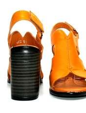 صندل زنانه آر اند دبلیو مدل 654 رنگ پرتقالی -  - 7