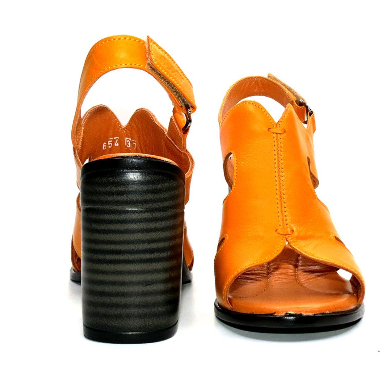 صندل زنانه آر اند دبلیو مدل 654 رنگ پرتقالی -  - 8