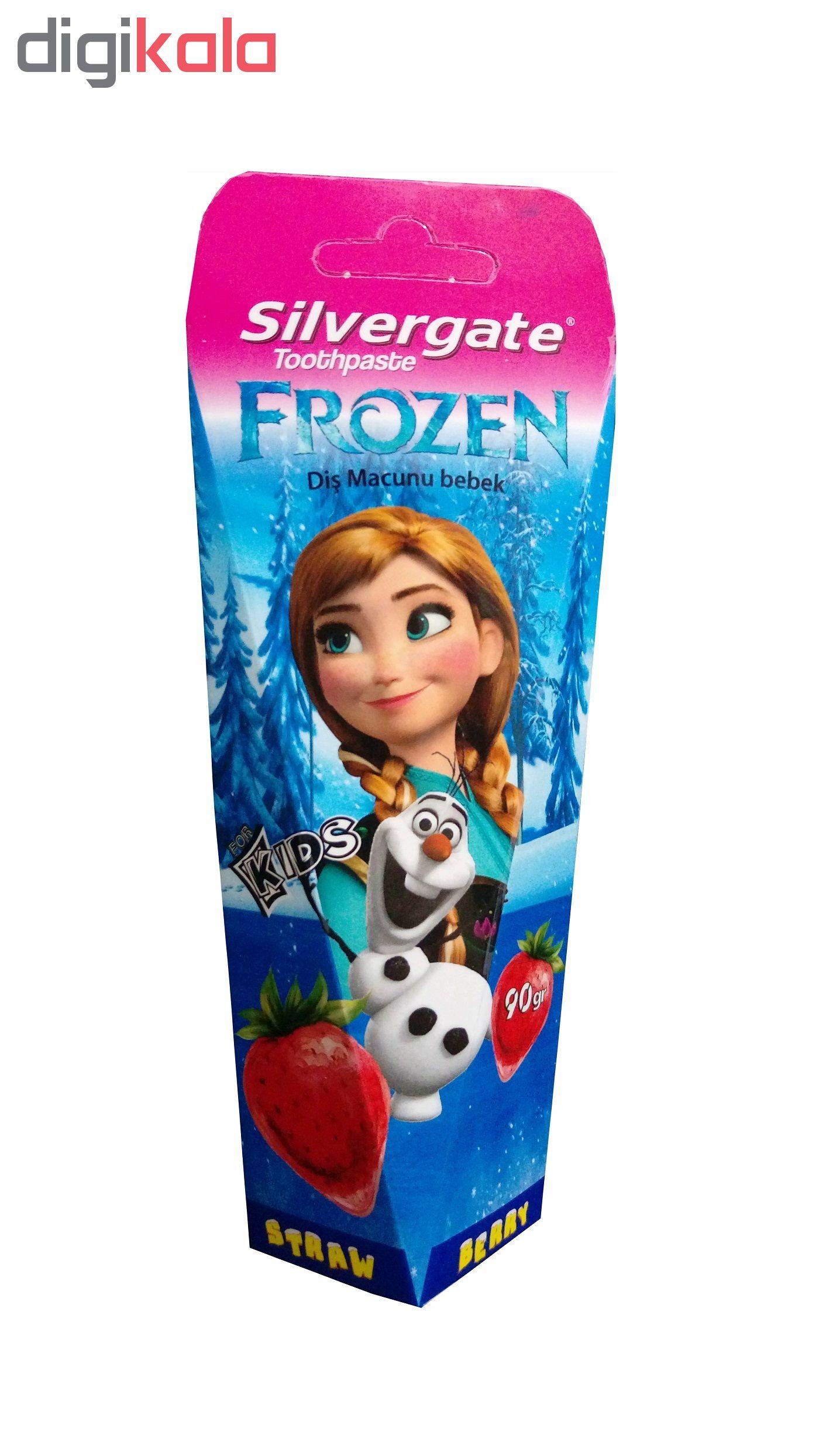 خمیر دندان کودک سیلورگیت مدل Frozen مقدار 90 گرم