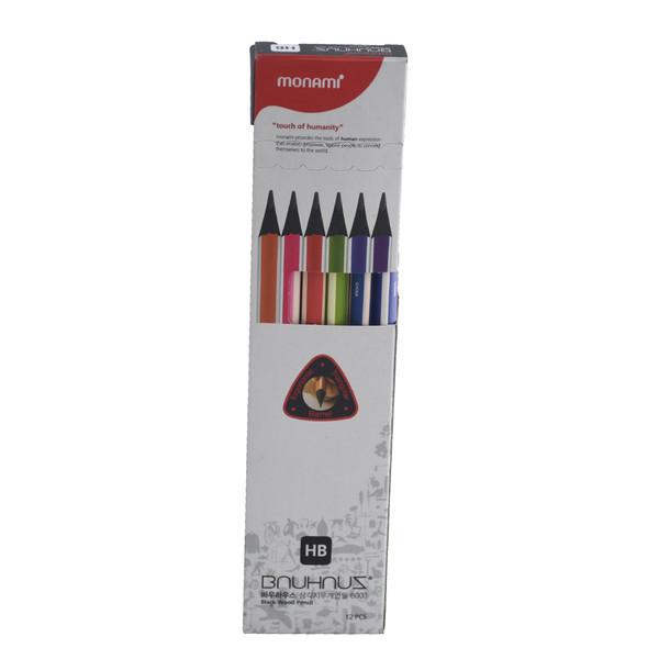مداد مشکی مونامی مدل 6003 بسته 12 عددی