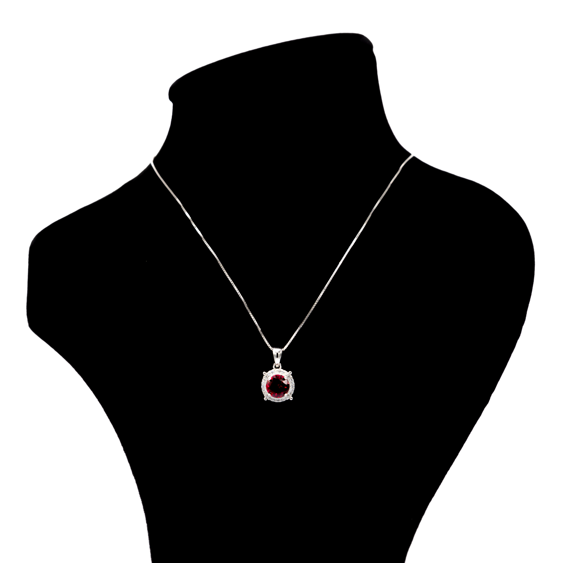 گردنبند نقره بهارگالری مدل Rounde Jewel کد 405014