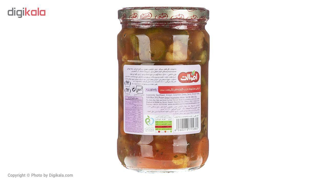 ترشی مخلوط  با رب گوجه فرنگی اصالت مقدار 680 گرم main 1 2
