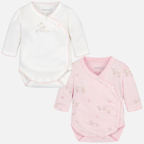 سرهمی زیر دکمهدار نوزادی دخترانه مایورال مدل MY02718-57 مجموعه 2 عددی