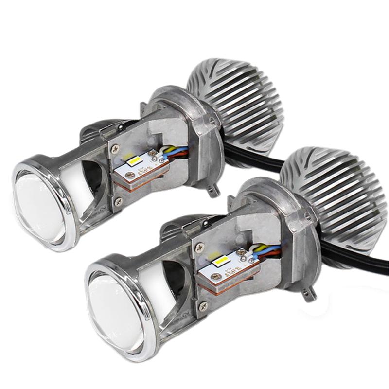 لامپ خودرو مدل H4 Mini Led Lens بسته دو عددی