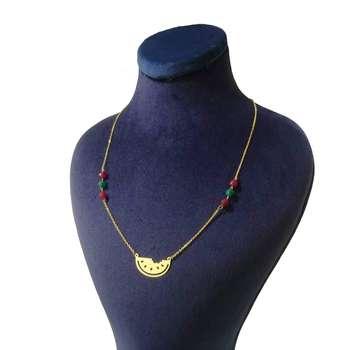 گردنبند طلا 18 عیار کانیار گالری طرح هندوانه کد 002