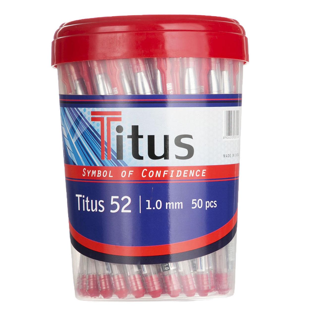 خودکار تیتوس مدل T52-1.0mm بسته 50 عددی