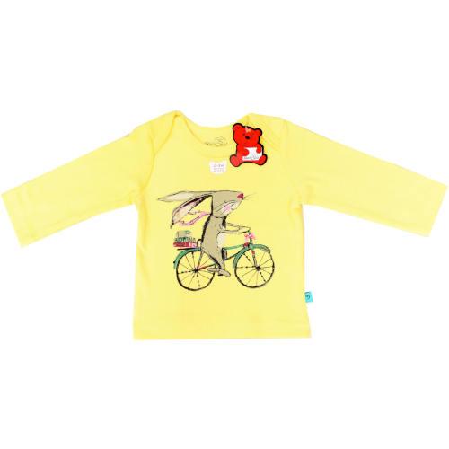 تی شرت آستین بلند شابن طرح خرگوش و دوچرخه