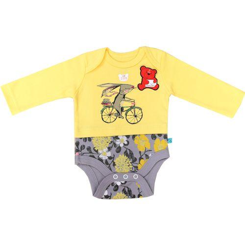 زیردکمه دار آستین بلند شابن طرح خرگوش و دوچرخه