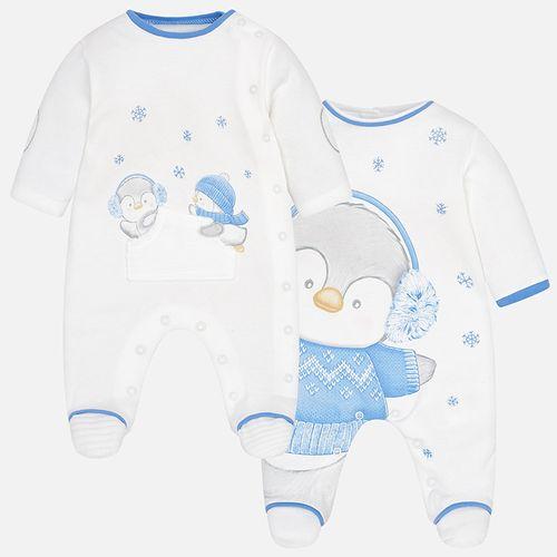 سرهمی جورابدار نوزادی پسرانه مایورال مدل MY02740-75 مجموعه 2 عددی