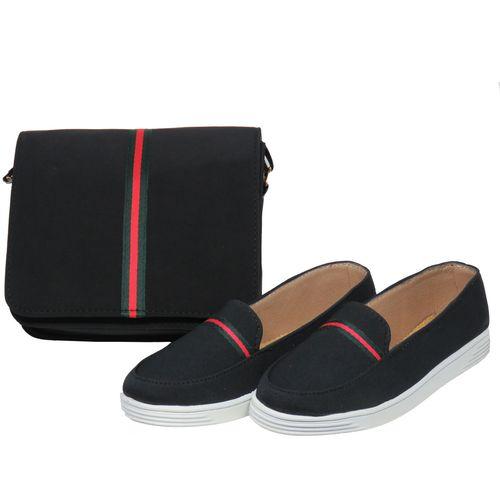 ست کیف و کفش زنانه پرین طرح گوچی کد PR801