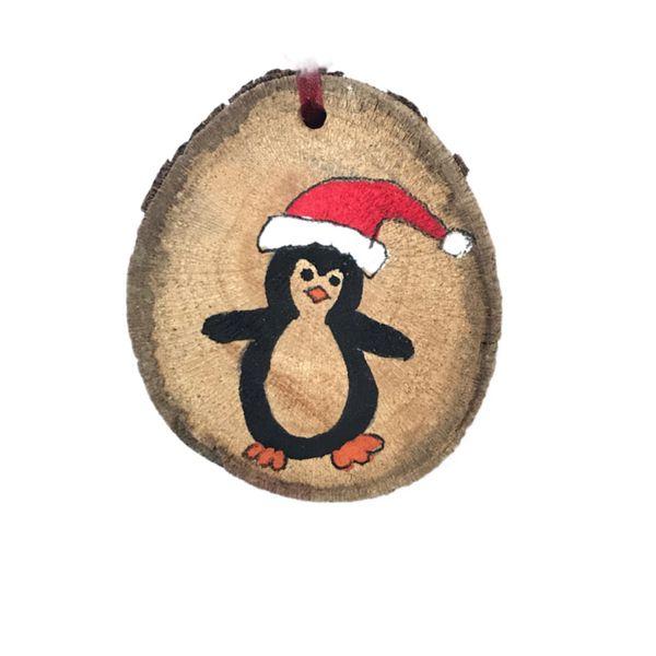 آویز درخت کریسمس مدل پنگوئن شاد