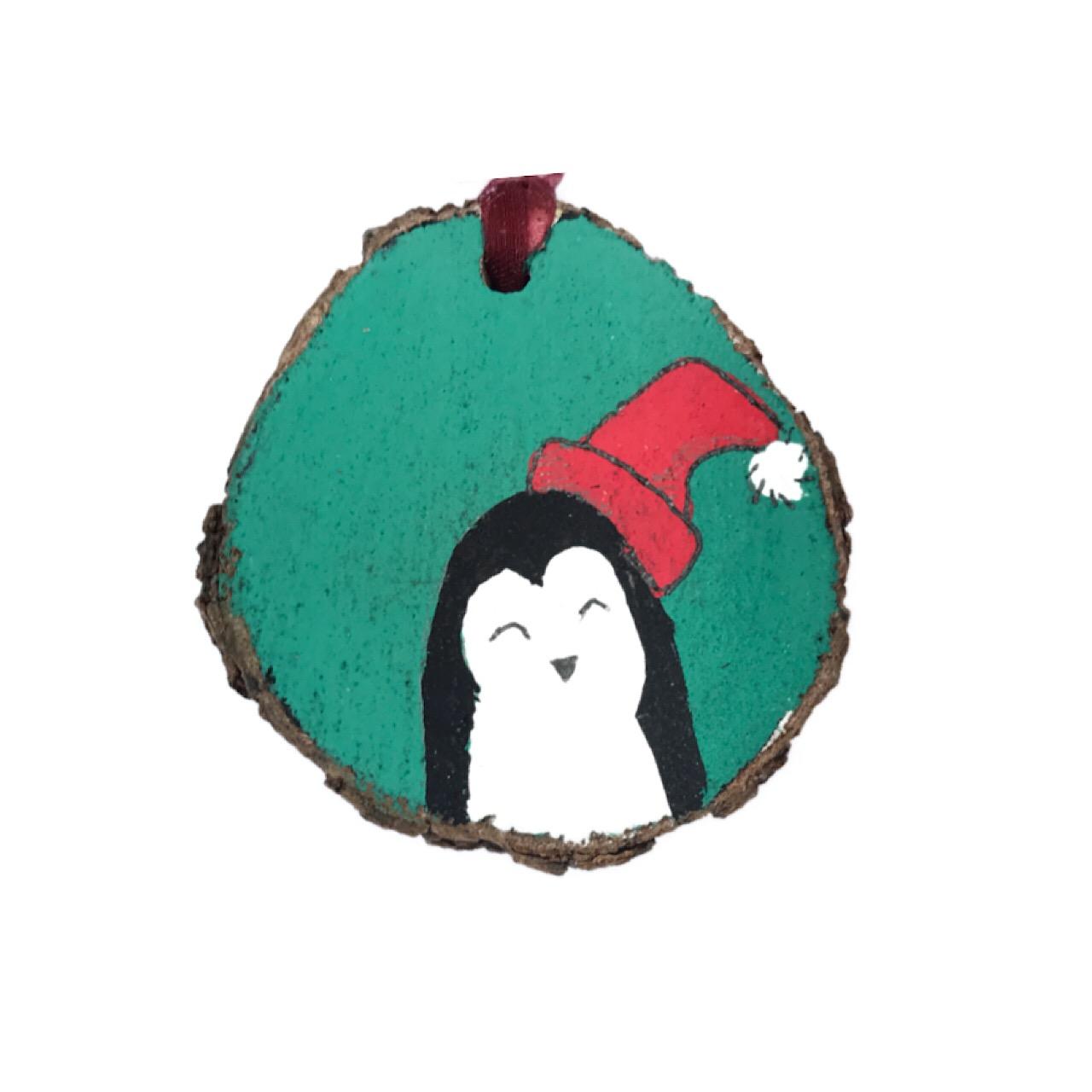 آویز درخت کریسمس مدل پنگوئن