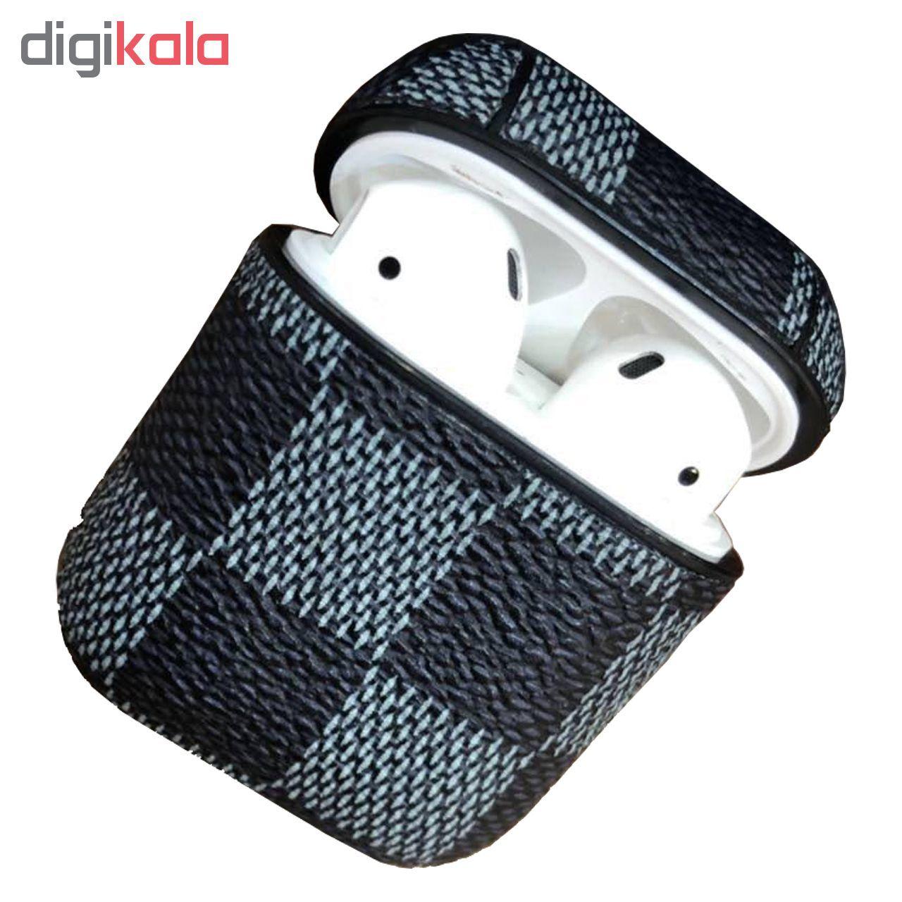 کاور محافظ  مدل Leather مناسب برای کیس هدفون اپل AirPods main 1 1