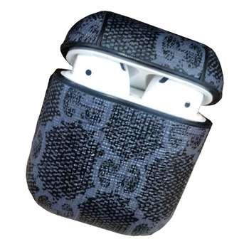 کاور محافظ  مدل Leather مناسب برای کیس هدفون اپل AirPods