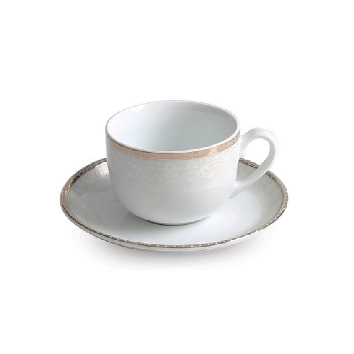 سرویس چای خوری 12 پارچه چینی زرین ایران سری ایتالیا اف مدل ریوا درجه عالی