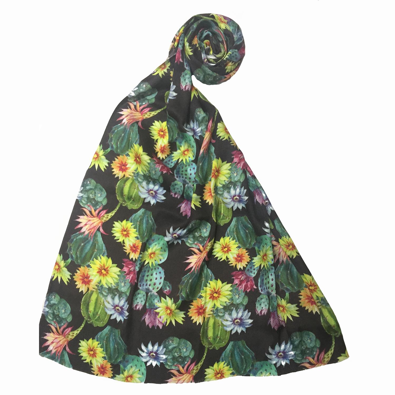 دستمال سر و گردن مدل گل کد 2