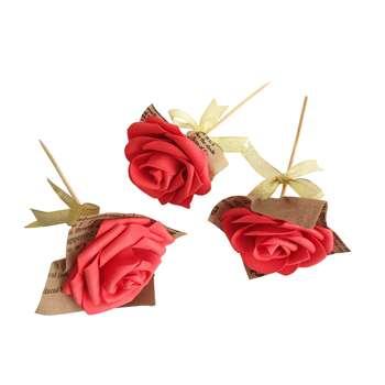 شاخه گل رز  عشق  نفیس گالری  مجموعه 3 عددی