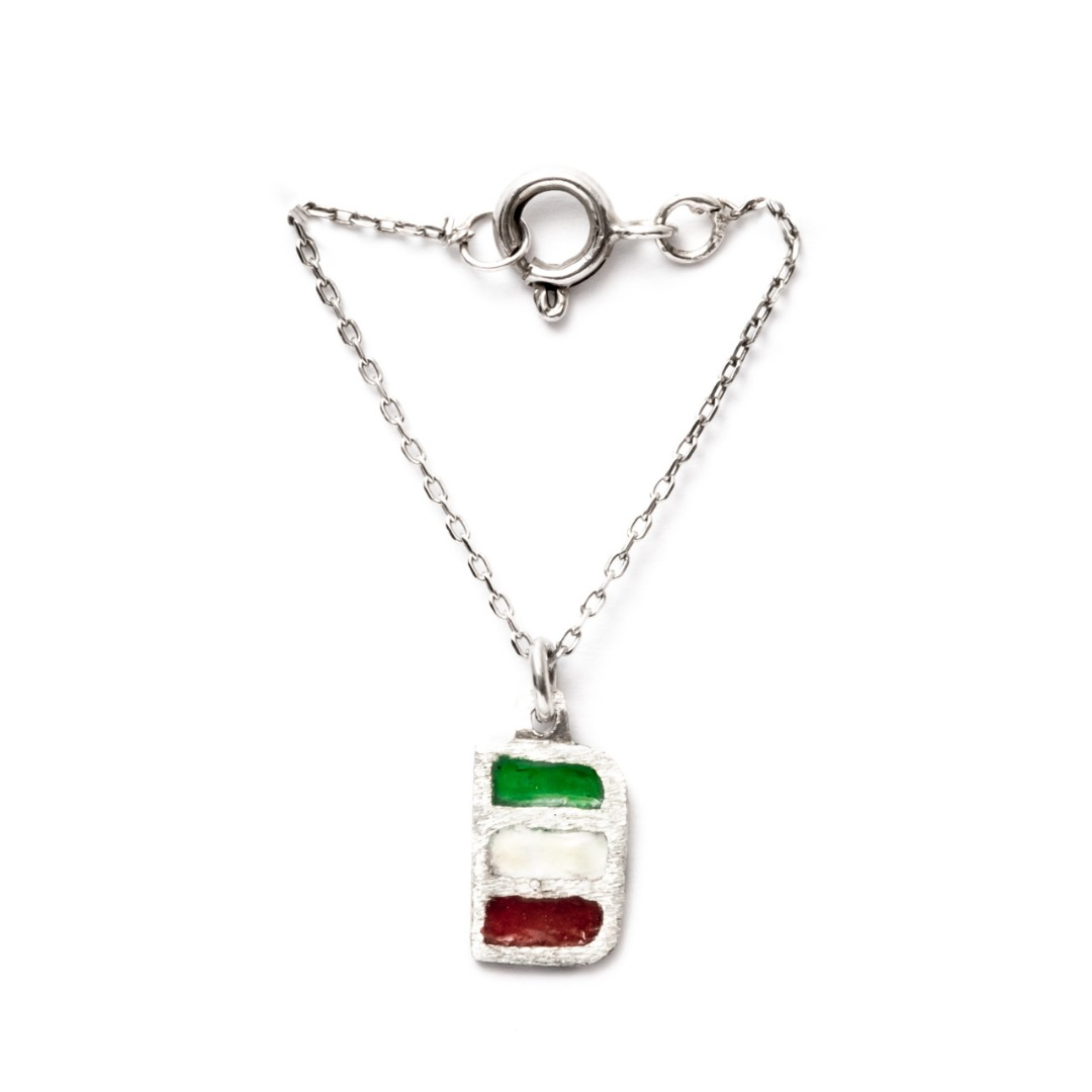 آویز ساعت نقره طرح پرچم ایران کد CAA011