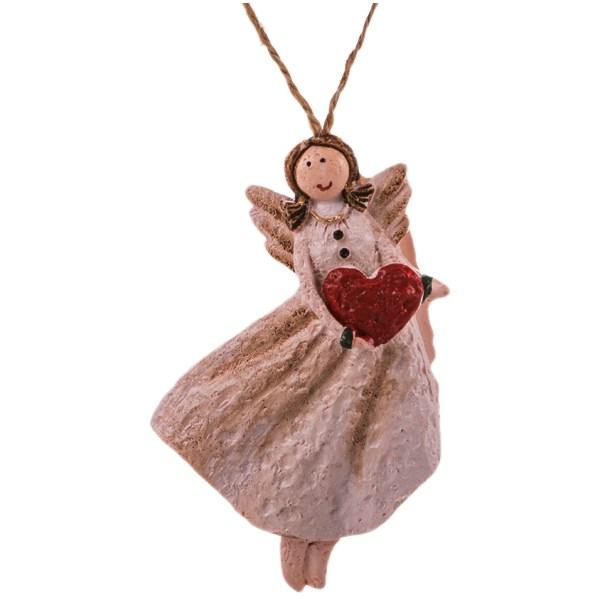 آویز سرامیکی مدل فرشته مهربانی ایستاده