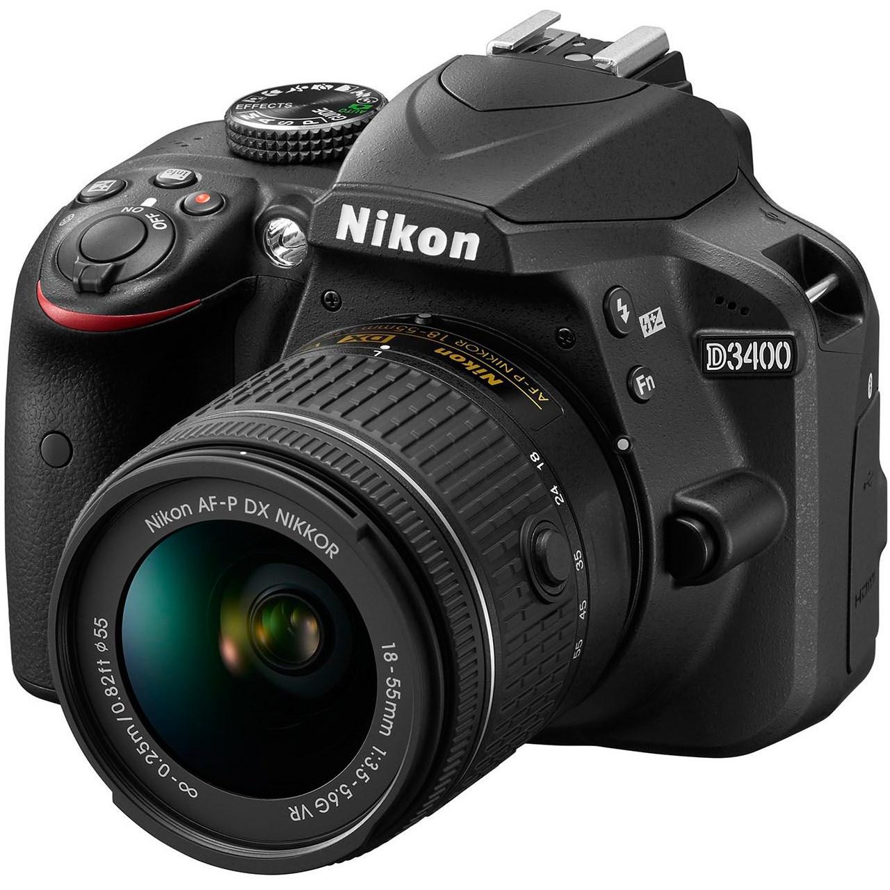 دوربین دیجیتال نیکون مدل D3400 به همراه لنز ۱۸-۵۵ میلی متر VR