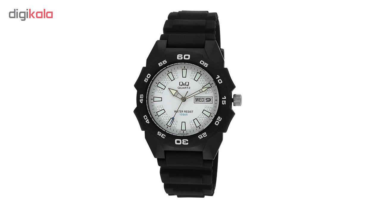 خرید ساعت مچی عقربه ای مردانه کیو اند کیو مدلA170J002Y به همراه دستمال مخصوص برند کلین واچ