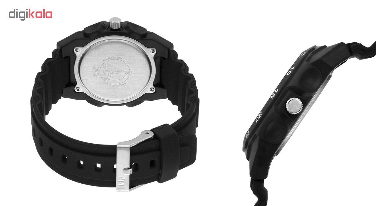 ساعت مچی عقربه ای مردانه کیو اند کیو مدلA170J002Y به همراه دستمال مخصوص برند کلین واچ