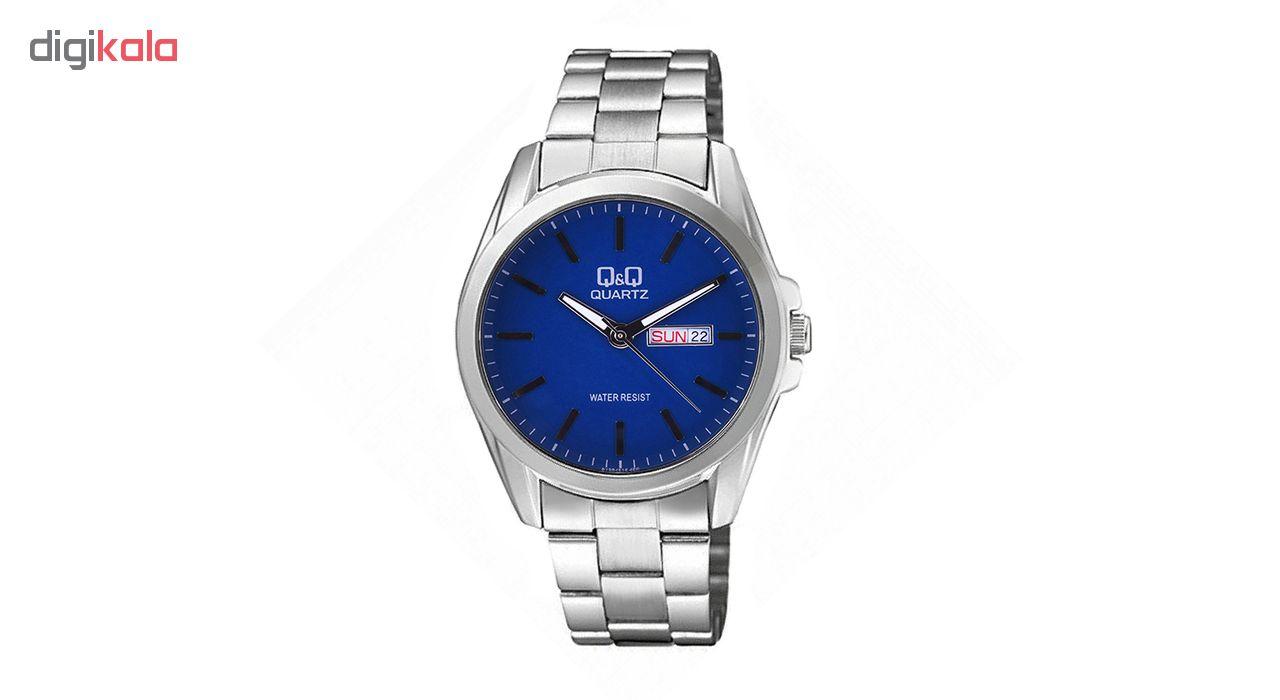 خرید ساعت مچی عقربه ای مردانه کیو اند کیو مدلA190-212Y به همراه دستمال مخصوص برند کلین واچ