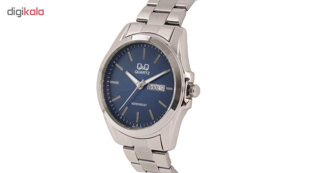 ساعت مچی عقربه ای مردانه کیو اند کیو مدلA190-212Y به همراه دستمال مخصوص برند کلین واچ