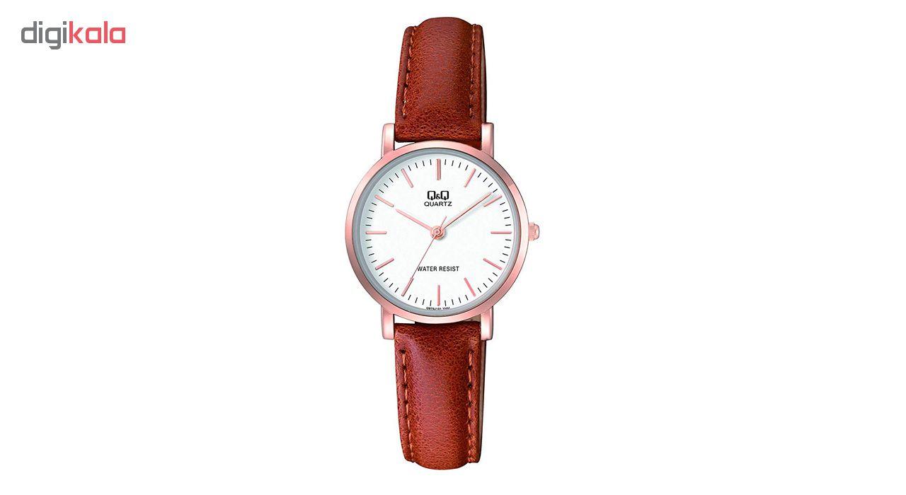 ساعت مچی عقربه ای زنانه کیو اند کیو مدلQ979J101Y به همراه دستمال مخصوص برند کلین واچ              ارزان