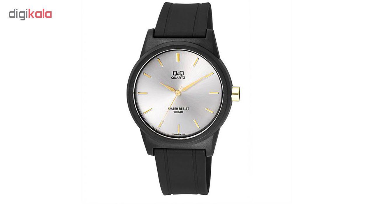 خرید ساعت مچی عقربه ای مردانه کیو اند کیو مدلVR35J024Y به همراه دستمال مخصوص برند کلین واچ