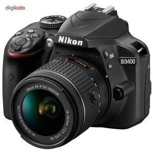 دوربین دیجیتال نیکون مدل D3400 به همراه لنز 18-55 میلی متر VR  Nikon D3400 18-55mm VR Lens Kit Dig
