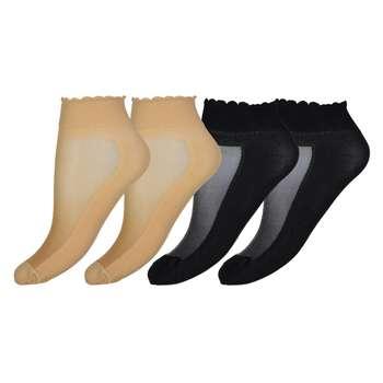 جوراب زنانه مدل CL837-BlCr بسته 4 عددی