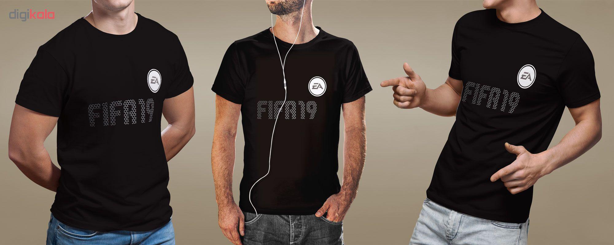 تیشرت مردانه فروشگاه دی سی کد DC-13212 طرح فیفا۱۹ - بازی فوتبال ۲۰۱۹ -  فیفا ۱۹