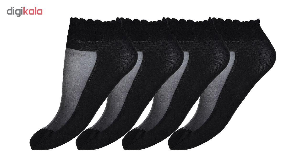 جوراب زنانه مدل CL837-BLack بسته 4 عددی main 1 1