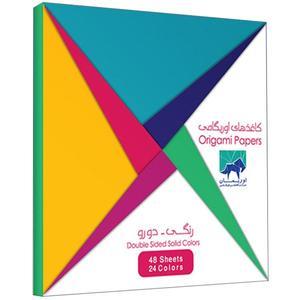بسته کاغذ اوریگامی اوریمان طرح رنگی دو رو