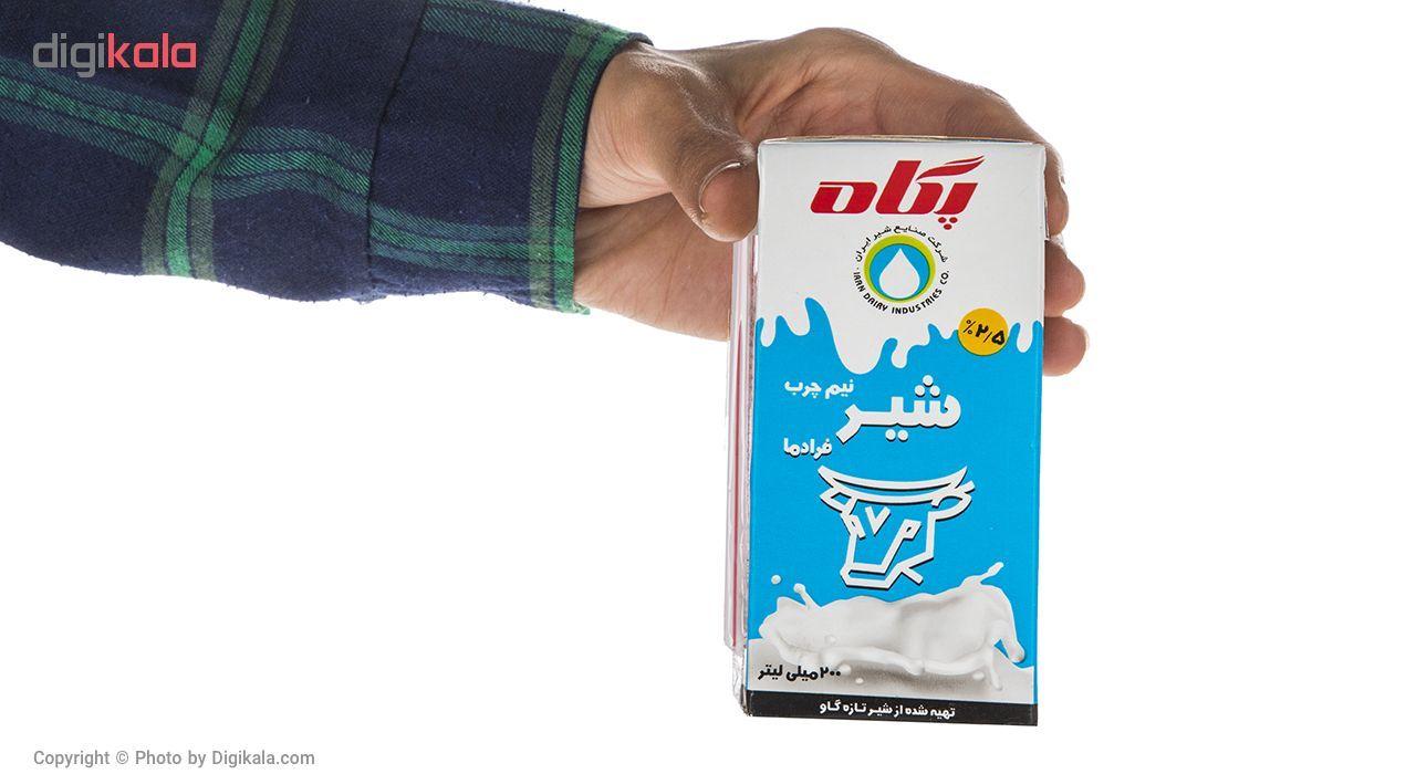 شیر نیم چرب فرادما پگاه - 0.2 لیتر main 1 3