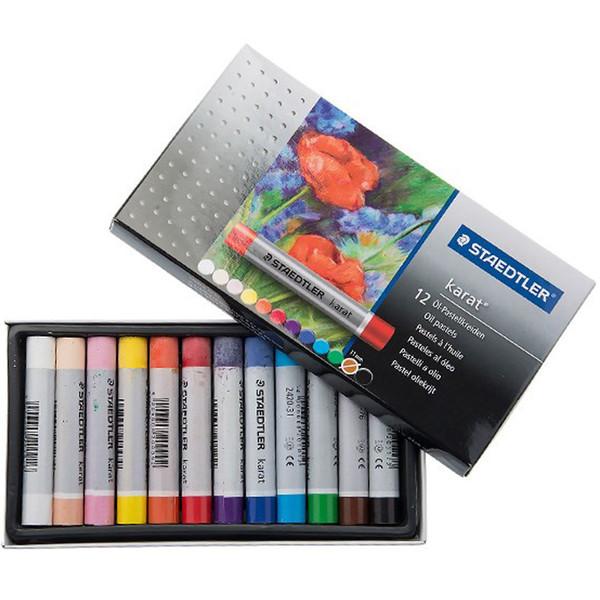 پاستل روغنی استدلر مدل Karat بسته 12 رنگ