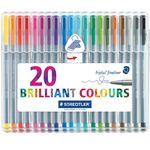 روان نویس 20 رنگ استدلر مدل Triplus Brilliant Ciolours thumb