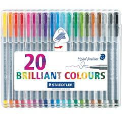 روان نویس 20 رنگ استدلر مدل Triplus Brilliant Ciolours