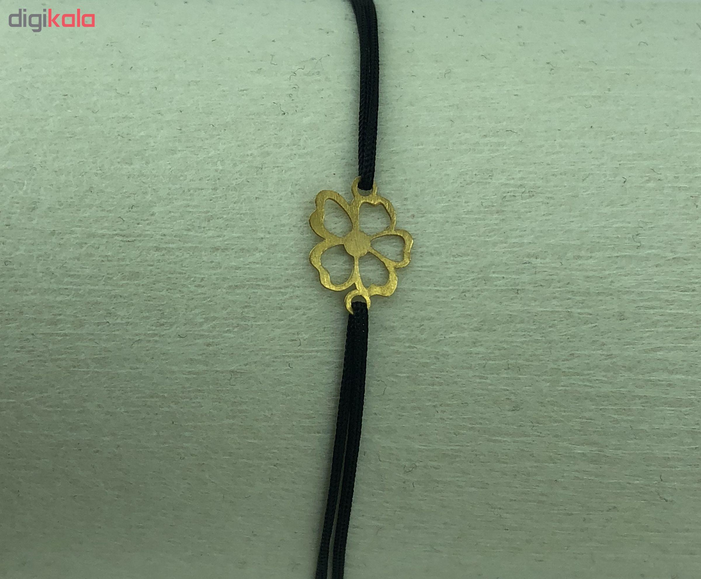 دستبند طلا 18 عیار طرح گل مدل G331