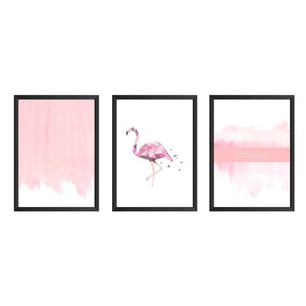 تابلو سه تکه وینا مدل Flamingo